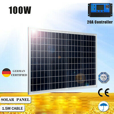 250W 12V Folding Solar Panel Caravan Camping Power Mono Battery Charging 4x4