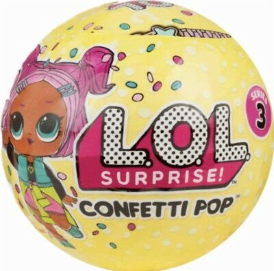 LOL SURPRISE! Genuine Confetti Pop Big Sister Doll/Tot Series 3 New Free UK P&P