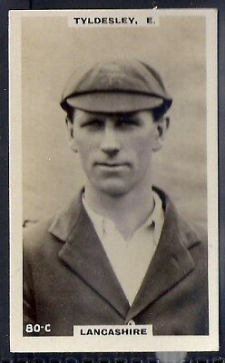 PHILLIPS-CRICKET ERS BROWN BACK F192-#080c- LANCASHIRE - TYLDESLEY
