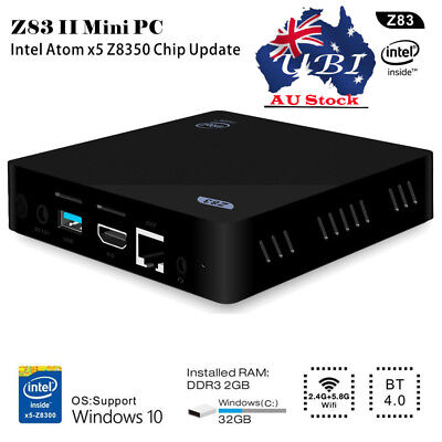 Z83II TV Box Mini PC Intel X5-Z8350 Windows10 Quad Core 2GB /32GB Bluetooth4.0