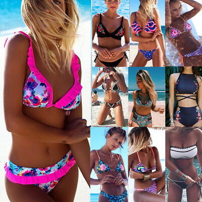 2018 Sexy Womens Bikini Set Push-up Padded Bra Swimsuit Swimwear Beachwear Lot
