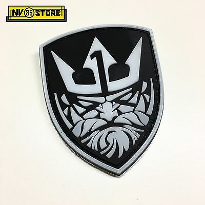 Patch in PVC Nettuno Team One 1 NAVY SEALS 7 x 8,5 cm Militare Velcrata Black