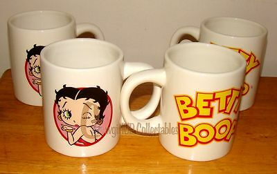 Classic Betty 10 oz Coffee Cup's (Betty Boop by Pacific, 39195) Set of 4