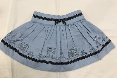 Gymboree Paris Landmarks and Cafe Themed Skirt NWT 3T