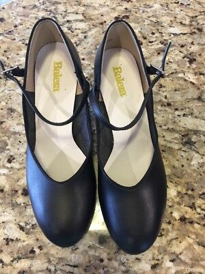 Balera Black Character Dance Shoes Women's Size 8.5 US  Excellent Condition