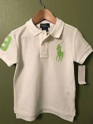 NWT Polo Ralph Lauren Shirt Boys 3T Toddler BIG  Pony New Free Shipping