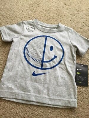 NWT Toddler Boys Nike Dri-fit Big Logo Shirt S/S Size 3T Super Cute New