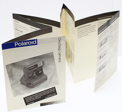 Polaroid OneStep Camera Manual Instructions Guide Brochure English