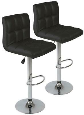 LOT DE 2 tabourets de bar noir design moderne Helloshop26 1201002 ... 51e6db0444da