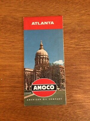 Vintage Atlanta Amoco Map