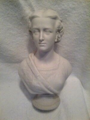 Antique 19Thc Copeland Parian Bust Of Alexandra Princess Of Wales C1863