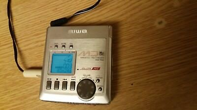 Aiwa AM-F80 Personal MiniDisc Playerrecorder in vgwo ,with mains powersupply.+MD