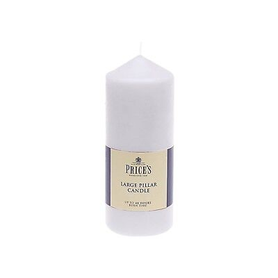 Prices Pillar Candle White 6in CDD060628