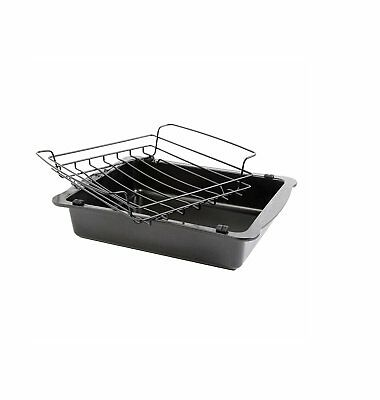 Oster 81046.02 Strathdon 18-Inch Carbon Steel Roaster and Wire Rack, Multi-Size,