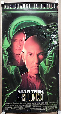 Star Trek First Contact Movie Mini Promo Poster 2-sided Patrick Stewart Picard