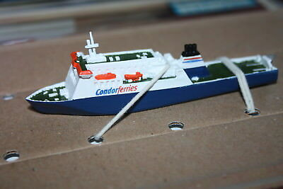 Commodore Clipper Channel Isle ferry painted model in 1250 scale Mountford