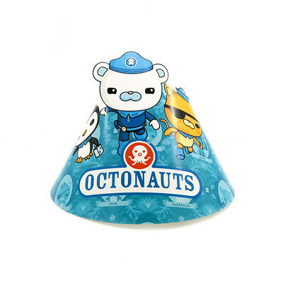 6 PCS Kids Octonauts Theme Happy Birthday Party Paper Hats Set Decoration