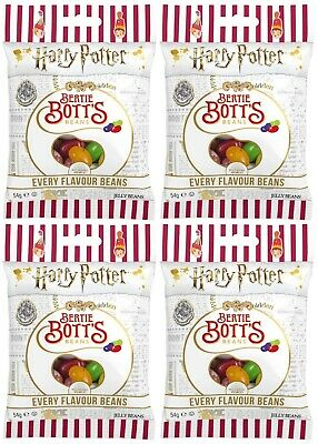 4x Jelly Belly Harry Potter Bertie Botts Flavour Beans 54g American Sweets