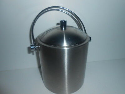 Double Walled Stainless Steel Insulated Ice Bucket With Lid Drain / New