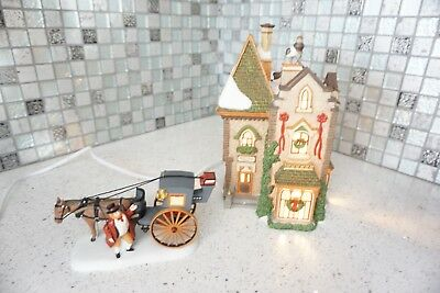 Department 56 Dickens Village-Christmas at Regents Park House Set of 2 RARE