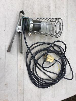 Vintage Antique Briticent Gripper Wire Caged Inspection Light Lamp Original Cond