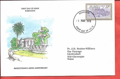 Barbados stamps. 1978 Bridgetown FDC (A500)