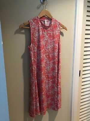 Tropical Print PinkBlush Maternity Dress, Size Small