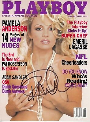2/90 Playboy Playmate Pamela Anderson Autographed Cover only from 2/99 issue