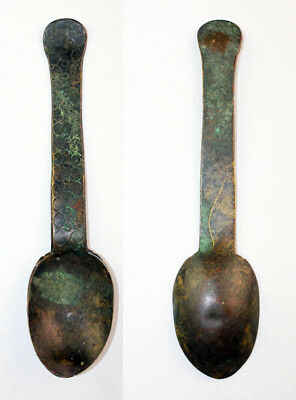 *SC* EARLY EUROPEAN BRONZE SPOON, MEDIEVAL, 10th-14th cent. RARE!!