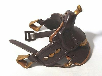 Vintage 1988 MARCHON Show Horse Brown Gold Saddle