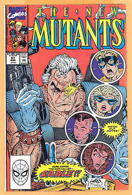 The New Mutants #87 Copper Age Marvel Comics 1St Appearance Cable Rare L@@k