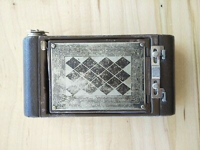 Kodak Petite with Diamond Pattern Vanity Folding Camera - Extremely Rare
