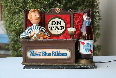 Vintage Pabst Blue Ribbion Back Bar Sign Milwaukee PBR Bartender