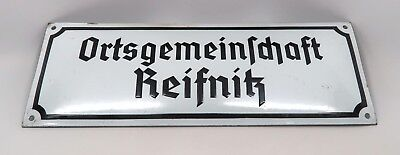 WWI German war enamel sign trench art Wehrmacht Heer US WW2 Army military estate