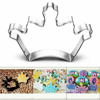 Diy Stainless Steel Crown Cookie Cutter Biscuit Cake Decorating Sugarcraft Mould