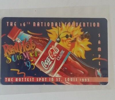 1995 Coca Cola Phone Card 16th National Sports Convention St. Louis  (PC-43)