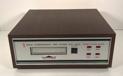 Vintage Morse 8-Track Stereophonic Tape Player 101-E