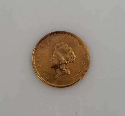 1854-p Type-2 GOLD $1  holed and repaired               L1298