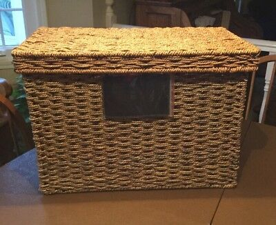 Seagrass Blanket Basket  New In Box By Celebrating Homes