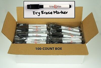 NEW 100 Pack Magnetic Dry Erase Markers Low-Odor Built-in Eraser with Fresh Wrap