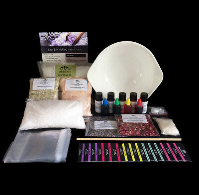 Bath Salts Making Kit - Makes 2kg + bath salts inc pouches and labels