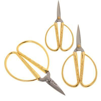3Pcs Vintage Stainless Steel Scissors Shears For Tailor Sewing Embroidery