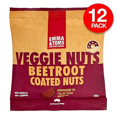 Emma & Tom's Peanuts Cashew Nuts Beetroot Healthy Veggie Snack 45g x 12