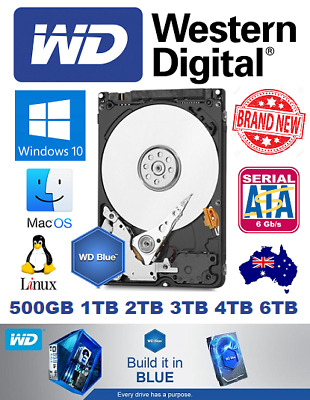 "Western Digital WD Blue 500GB 1TB 2TB 3TB 4TB 6TB Had Drive 3.5"" Brand New"