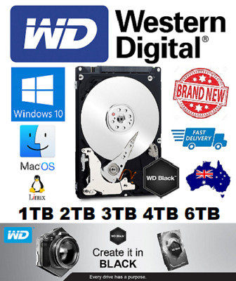 "Western Digital WD Black 1TB 2TB 3TB 4TB 6TB internal Hard Drive 3.5"" Brand New"