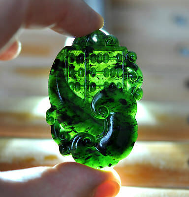 Exquisite Chinese Natural jade hand-carved ruyi abacus auspicious Pendant