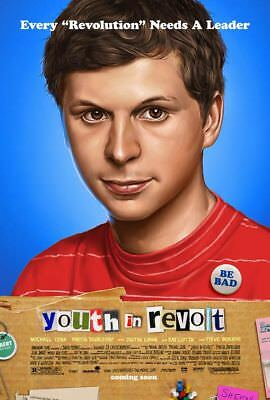 YOUTH IN REVOLT great original adv. 27x40 D/S movie poster (s01)