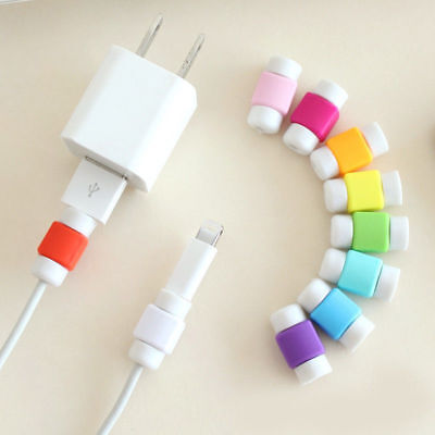 5//10PCS Protector Saver Cover for iPhone X//8//7//6 USB Charger Cable Cord Wire WI1