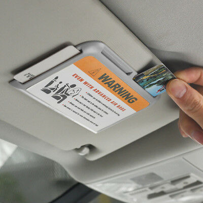 Car Auto Sun Visor Shield Board Organizer Parking Card Ticket Holder W/Number