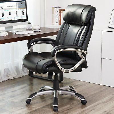 Office Chair for Computer Desk Cushion with Innerspring High Back Black OBG55BK